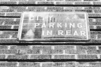 city parking in rear